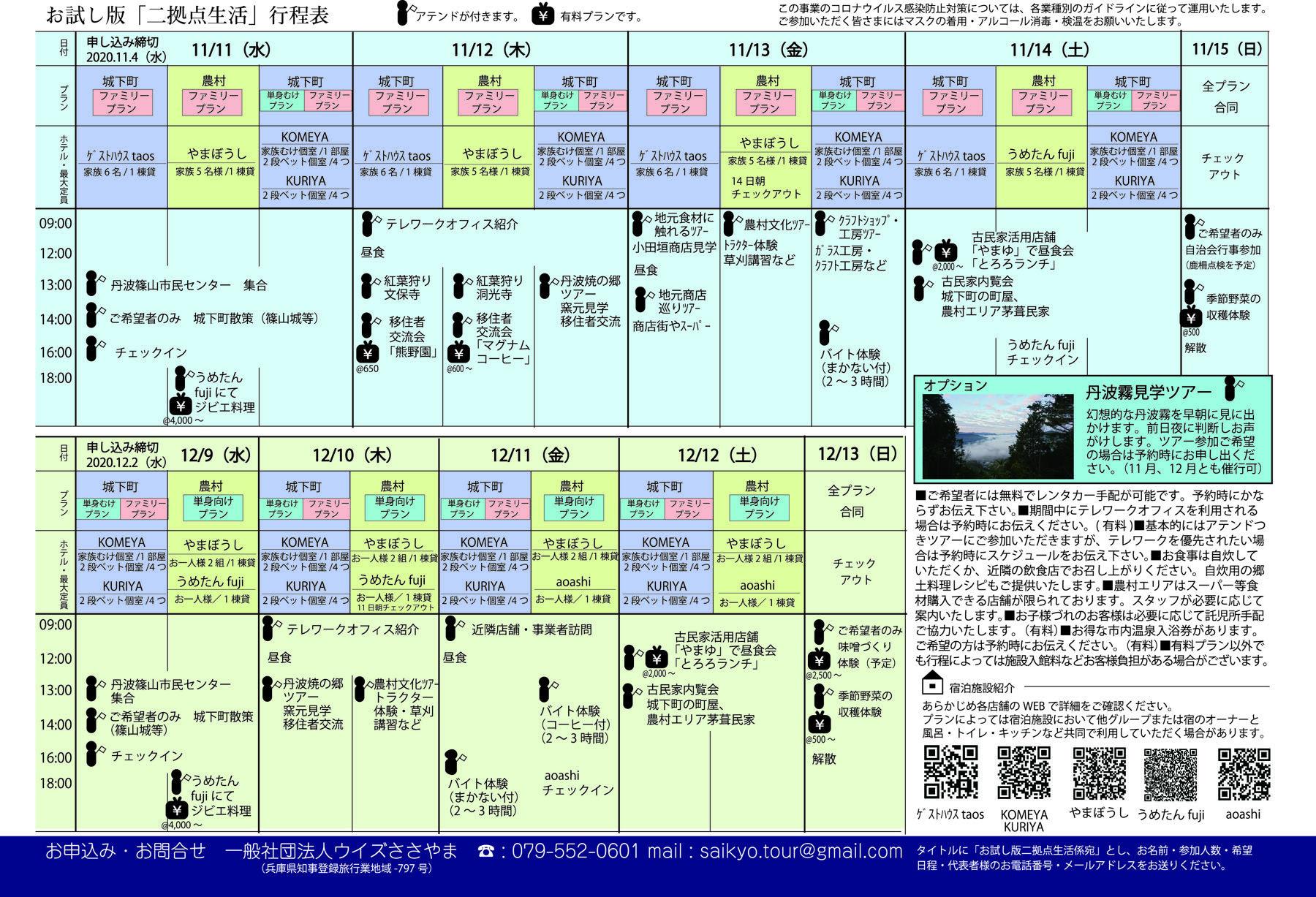 丹羽篠山二拠点生活旅程